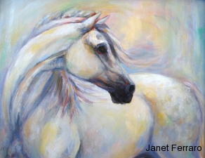 Heavenly Horse, oil