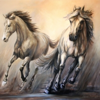 Gallop, Two Horses
