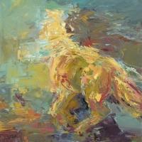 Dancing Horse, oil