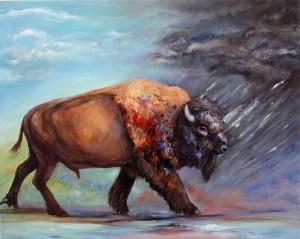 Buffalo Facing The Storm,IMG_6424 2 copy